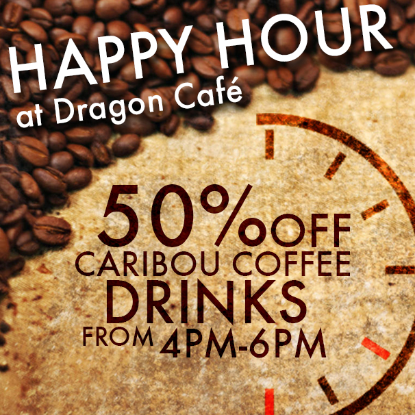Coffee half off during Dragon Café's happy hour – News